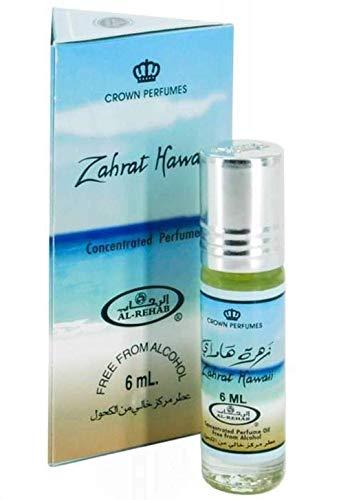 Fragancia de almizcle Al Rehab Zahrat Hawaii 6 ml 100% aceite de perfume concentrado