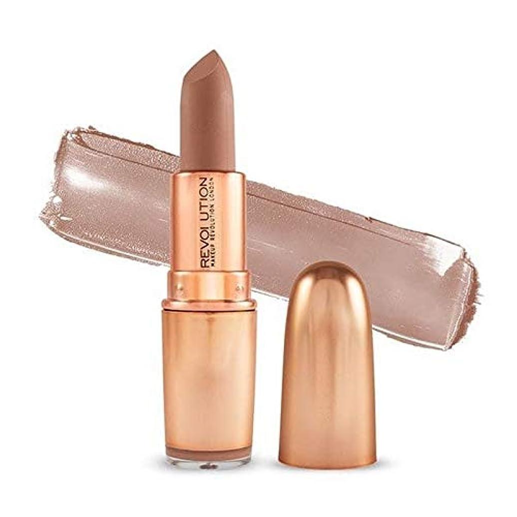 狂気避ける軽量[Revolution ] 革命の象徴的なマットな希望的観測ヌード口紅 - Revolution Iconic Matte Nude Lipstick Wishful [並行輸入品]