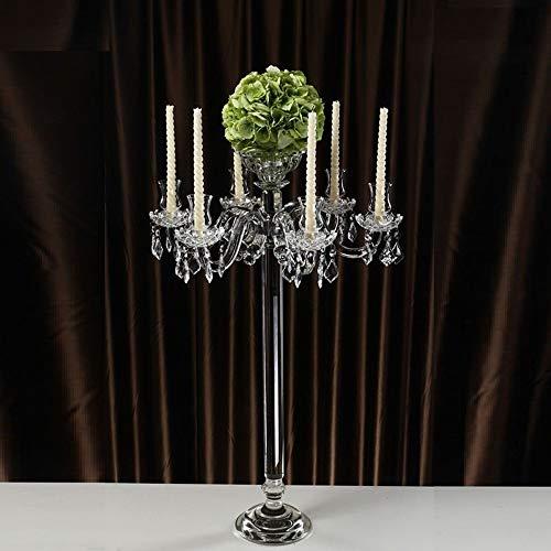 Kaarsenstandaarden 90cm Tall 7 Arms Crystal Kaarsenstandaarden Kandelaar bruiloft decoratie Stand Woondecoratie Candelabra Kandelaar