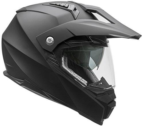 Vega Helmets Cross Tour 2 Dual Sport Helmet with Internal Sun Visor – Full Face Motorcycle Helmet for Motocross ATV MX Enduro Quad, 5 Year Warranty (Matte Black, Large)