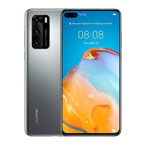 HUAWEI P40, 128 GB, Smartphone 6.1', OLED, 50+16+8 MP, 8 GB RAM, Color Plata - No cuenta con los servicios de Google preinstalados.