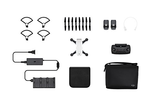 DJI Spark Portable Mini Drone Alpine White (Renewed) (Fly More Combo)