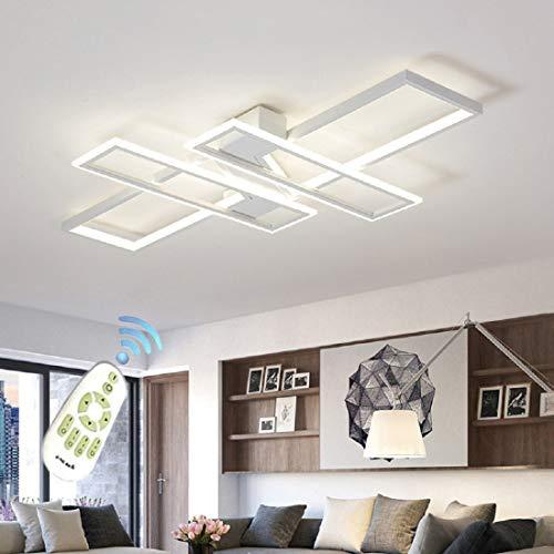 Yilingqi-1 Lámpara de Techo led Regulable con Control Remoto, 80W 5600LM Lámpara de Techo Moderna 3000k-6000K para Dormitorio/Sala de Estar/Cocina/habitación Infantil, L120 * W80 cm,Blanco