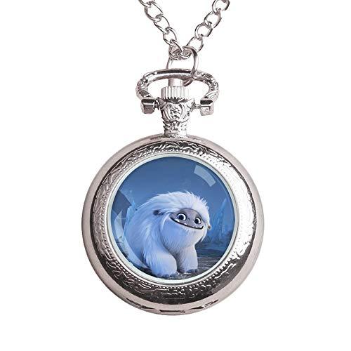 Nkaopjge Abominable Light Luxury Necklace Reloj de Estilo Occidental Personalidad Flip Pocket Watch Unisex Hombres y Mujeres Hombres Personalizados Reloj de Regalo Minora Moda Moda Reloj de bols