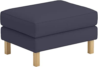 The Polyester Karlstad Footstool Cover Replacement is Custom Made for IKEA Karlstad Ottoman, A Sofa Ottoman Slipcover Replacement (Dark Gray Polyester)