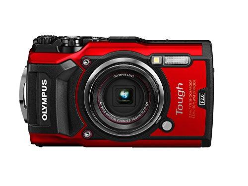 Olympus TG-5 - Cámara Digital (ultraresistente, Sumergible, vídeos en 4K, 4 Modos de Macro, WiFi Integrado), Rojo