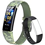 QOOGOT Fitness Tracker for Kids Girls Boys,Waterproof Activity Tracker with Heart Rate Sleep Monitor,11 Sport Modes Watch with Pedometer Alarm Clock,Step Fitbit Calories Counter,Kids Gift (Camo Green)