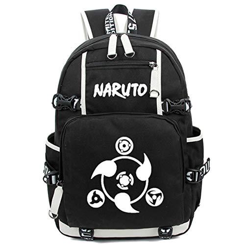 Siawasey Japanischer Anime-Cosplay-Rucksack, für Laptop, als Schultasche, Schultertasche schwarz Naruto 3