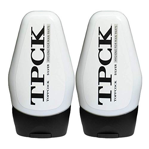 TPCK ToppCock Silver Leave-On Hygiene Gel for Man Parts, 90ml Odor Neutralizer, Male Care Moisturizing Body Hygiene (Pack of 2)