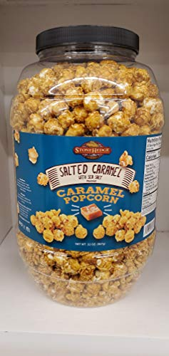 Review Of StoneHedge Farms Salted Caramel Popcorn Deliciously Old Fashioned 32 Oz. Tall Tub Jar!!!!!...