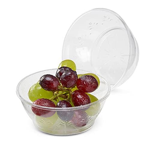 Matana 40 Petits Bols en Plastique Dur Transparent, Coupes à Dessert - 180ml