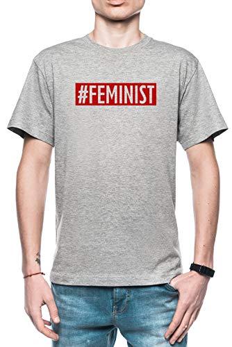 Rundi #Feminist Hombre Camiseta Gris Todos Los Tamaños - Men's T-Shirt Grey