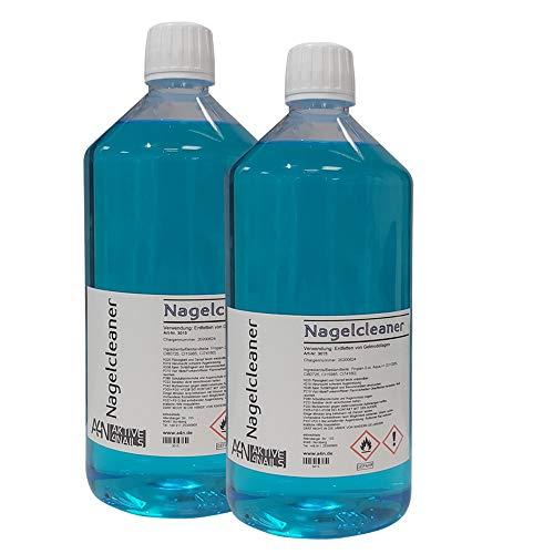 2 x Cleaner für Gel Nägel zum entfetten und reinigen bei der Nagel-Modellage (2000ml) Nail Cleaner Blau für Gelnägel 1 Liter