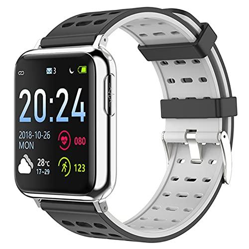 V5 Smart Watch Men's ECG Fitness Bracelet Health Electronic Presión Arterial Reloj Monitor De Ritmo Cardíaco Monitor Fitness Tracker,G