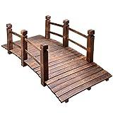 MAXXPRIME 5 ft Wooden Garden Bridge Arc Outdoor...