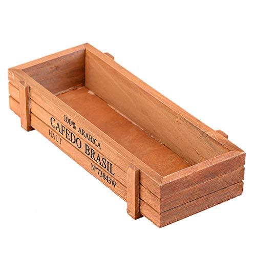 Aisoway Holzkiste Saftiges Planter Pflanzbehälter Nursery Pflanze Desktop Storage Box Dekoration DIY Fertigkeit-Geschenk