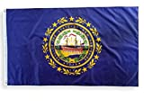 High Supply 3x5 New Hampshire Flag with Double Stitched Edges, 100% Polyester Fabric, and Two Brass Grommets, Flag of New Hampshire 3x5 Foot New Hampshire State Flag