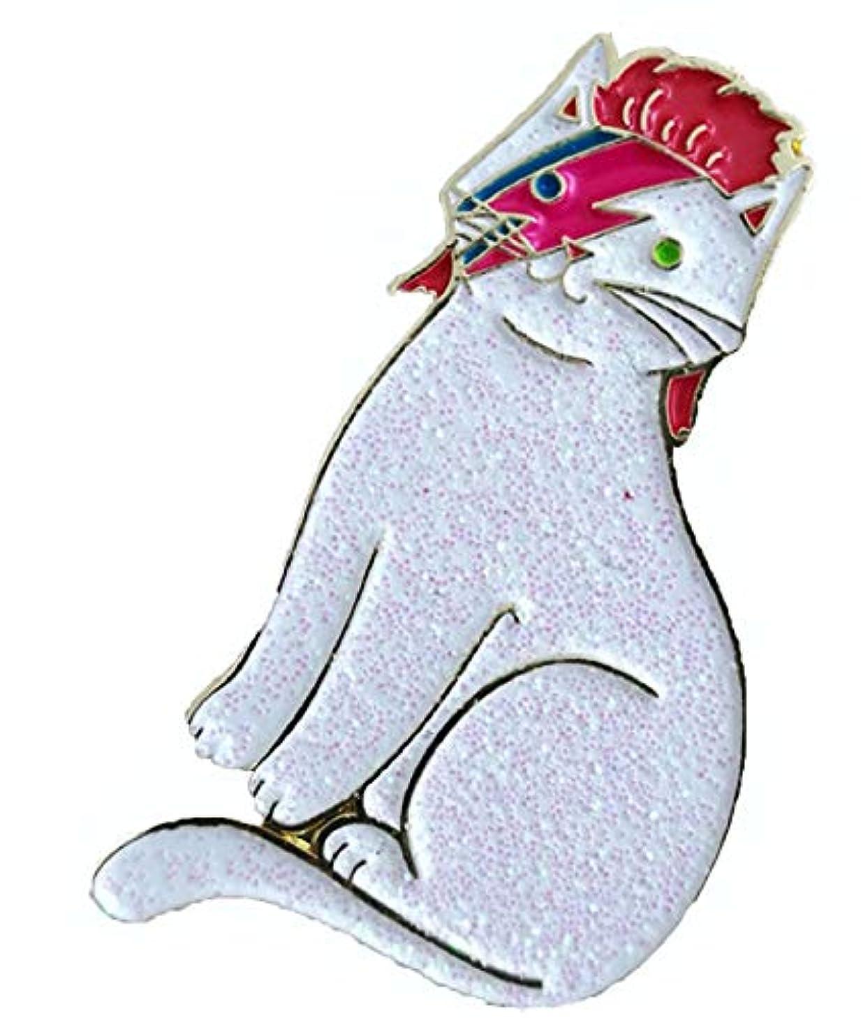 FTH Aladdin Sane David Bowie Lightening Bolt CAT Enamel 1.25