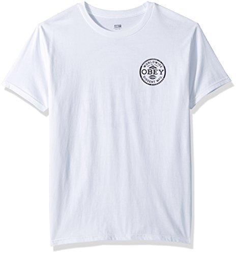 Obey 221180152 T-Shirt Mann Weiß S