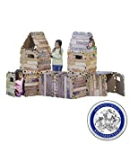 Fantasy Fort Kit Pretend Play Construction Building Set Indoor Playhouse Heavy Duty Faux Wood Panels Each Panel 22 x 22 Inches 32 Pieces