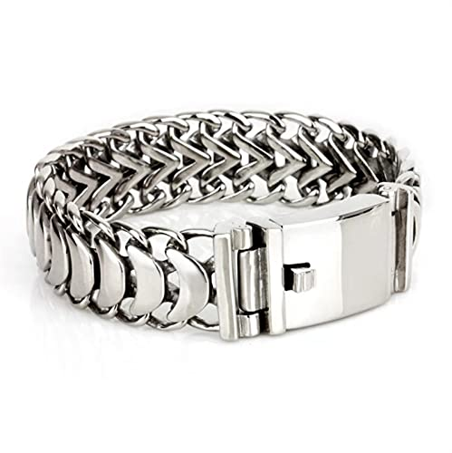 Pulsera de los hombres Classic Steel de acero inoxidable Cadena de la cadena de la cadena Pulsera de la cadena de roca de los hombres de la moda Pulsera de la brazaletilla de la joyería del partido Re