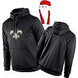Saints Sweat à capuche de rugby pour homme et femme + bonnet de Noël Tik Tok (XS-XXXXL) - Bleu - Large