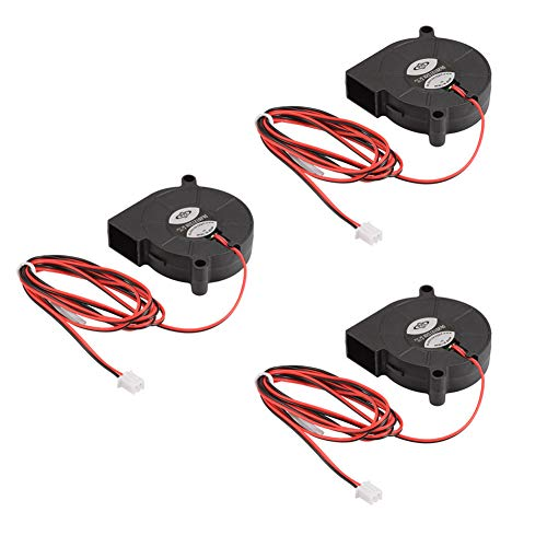 SSSabsir 3 Pcs Brushless Dc12v 5015 Cooling Blower Exhaust Fan 2-pin for 3D Printer