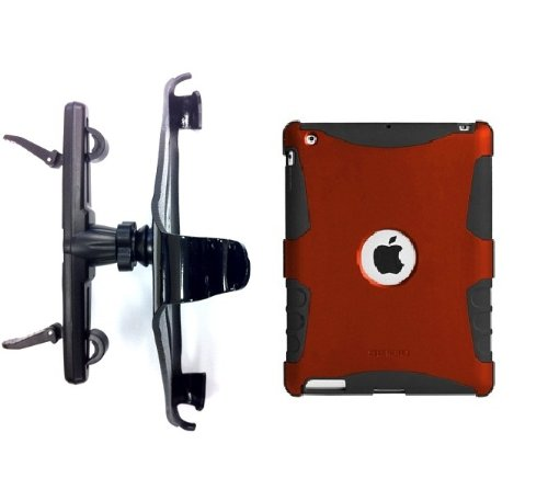 SlipGrip Headrest Holder for Apple iPad 2 & 3 & 4 GEN Using Seidio Active Case