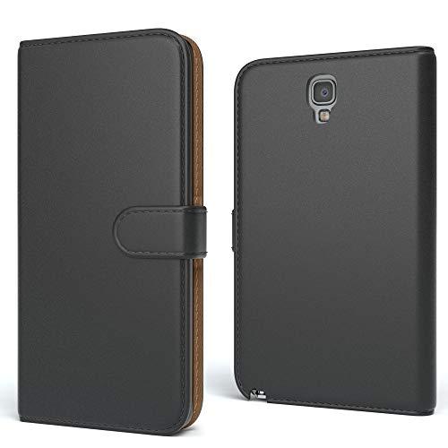 EAZY CASE Tasche kompatibel mit Samsung Galaxy Note 3 Neo Schutzhülle mit Standfunktion Klapphülle Bookstyle, Handytasche Handyhülle mit Magnetverschluss & Kartenfach, Kunstleder, Schwarz