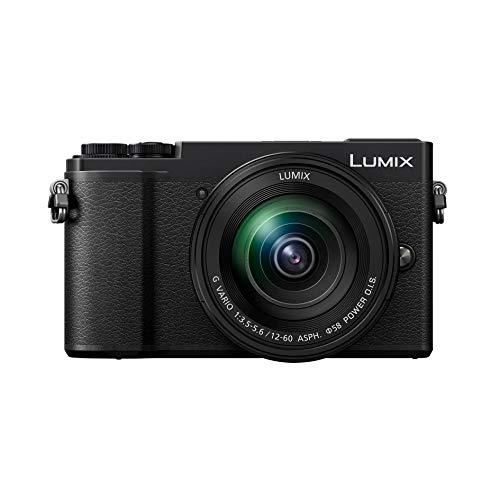 Panasonic Lumix GX9M | Cámara de Fotos híbrida compacta + Lente Lumix 12-60 mm (Sensor 4/3 20 MP, Doble Stab, Visor inclinable, Pantalla táctil, AF DFD, vídeo 4K) Negro - Versión Francesa
