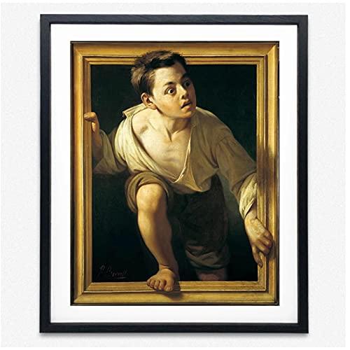 Abstrakt affisch undviker kritik Pere Borrell Del Cassos 1874 Wall Art Canvas målningar Nordiska vardagsrum heminredning -50x70cmx1st -Ingen ram