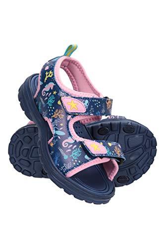 Mountain Warehouse Sand Sandalias para niños - Calzado de Verano Forrado de Neopreno, Duradero, con Velcro y Correa extraíble en el talón - Ideales para la Playa Azul 33