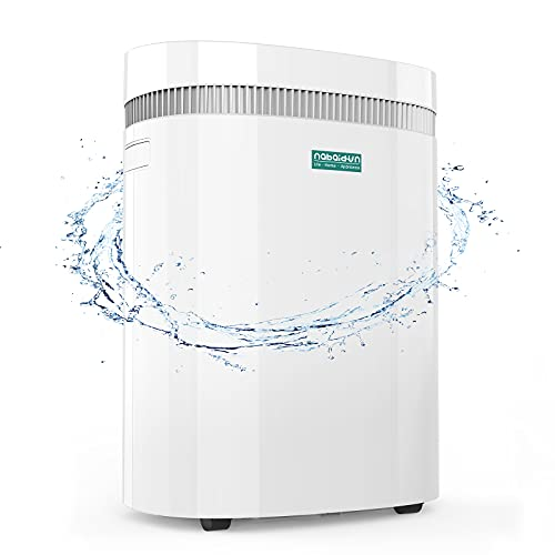 Dehumidifier-50 Pint (30pint 2019 DOE) 3000Sq. Ft Safe Dehumidifier with Extra Large Water Tank Smart WiFi Remote Control Washable Filter Wheels Damp Rid Moisture Absorber for Home Basement Bedroom Garage Living Rooms