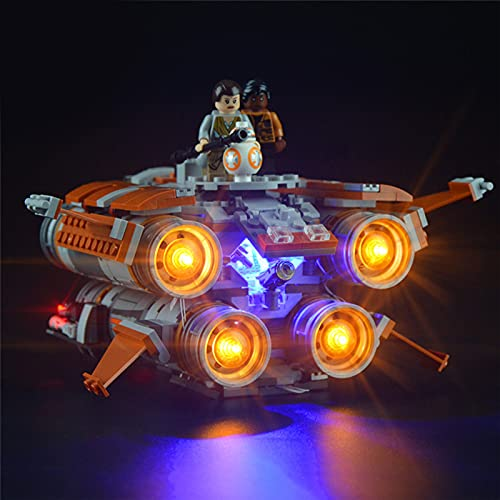 RIYIFER DIY Beleuchtung Modifikations Set, Lichtset für Lego 75178 Jakku Quadjumper Building Blocks Modell, Led Light Kit Kompatibel mit Lego 75178 (Nicht im Modell enthalten)
