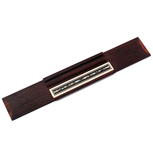 ROSENICE Puente guitarra reemplazo profesional clásica de madera para guitarra 1 pieza