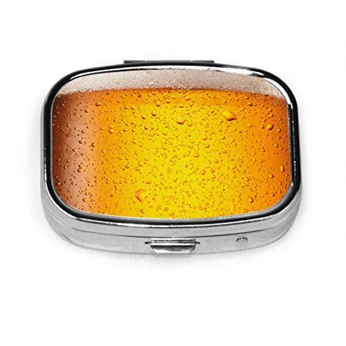 Gocce d'acqua sulla birra in vetro Close Fun Pill Case Travel Pill Case Organizer Case