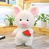 SHANGZHIQIN Juguete de Peluche Adorable de Cerdo Blanco Suave, Animal Lindo de Peluche Suave, muñecas Encantadoras para niños Apacigua el Juguete, decoración de la habitación del bebé 45 cm