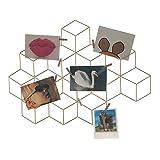HAB & GUT Marco de Fotos CR034- Decoración de Pared con Rejilla fotográfica, metálica, Panel de Mensajes DIY 60 x 44 Cubo