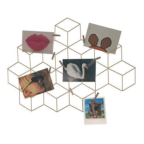 HAB & GUT -CR034- Messing Draht Gitter Wand Kartenhalter 60 x 44 cm
