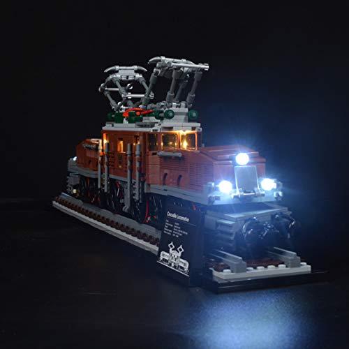 VIPO DIY Beleuchtungsset LED-Kabel Kit für Lego 10277 Lokomotive Krokodil, Modell Nicht Enthalten