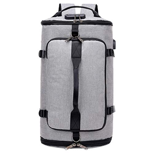 Men's Women'stravel Oxford Backpack School Satchel Hiking Rucksack Gray