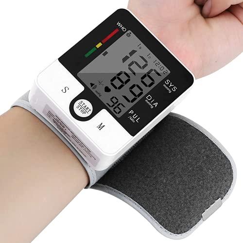 U-Kiss Tensiómetro de Muñeca, Esfigmomanómetro Digital Automático Preciso, Monitor de Presión Sanguínea con Pantalla LCD Grande, Incluye Estuche Portátil y Baterías, Modo de Usuario Dual para el Hogar