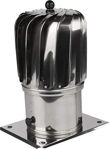 Kaminaufsatz Ø 150mm säurebeständigen Edelstahl drehbarer Kugelaufsatz Schornsteinaufsatz Lüftungsaufsatz Ofen Kamin Lüftung