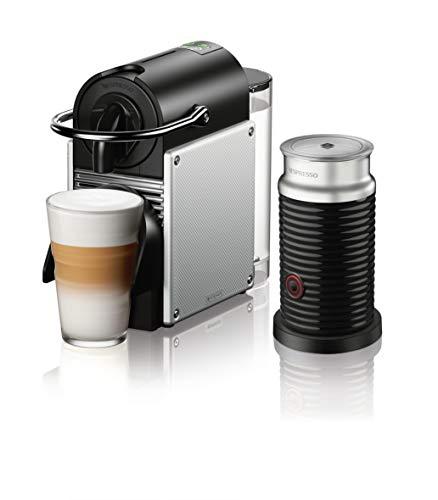 Nespresso Pixie Coffee and Espresso Machine by DeLonghi with Aeroccino, Aluminum