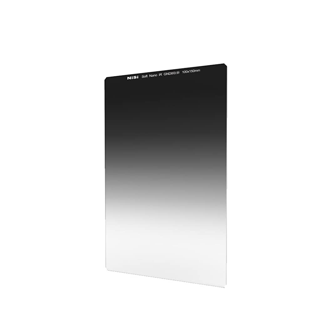NiSi 100X150mm Square Soft Graduated Neutral Density Filter GND8(0.9) ND 3 Stops Coating Optical Glass Compatible with 52mm,55mm,58mm,62mm,67mm,72mm,77mm,82mm Lens,Lee Cokin?Hitech?Singh-Ray