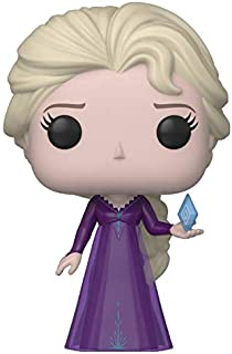 Funko Pop! Disney: Frozen 2 - Elsa, en el camisón desconocido con figura de vinilo de diamante de hielo, exclusiva de Amazon