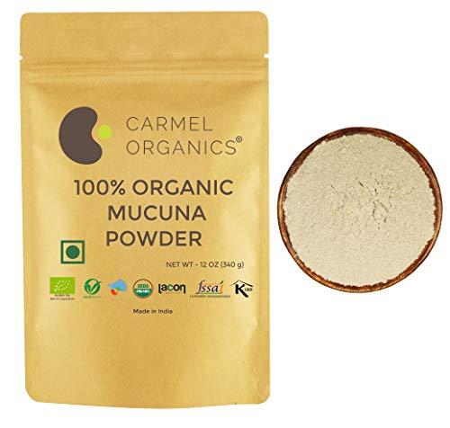 Organic Mucuna Seed Powder (12 oz)  USDA Certified   Non GMO   Kosher   Supports Healthy Nervous System