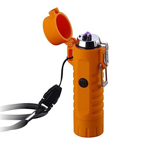 Dual Arc Lighter with Flashlight-3 Mode Double Arc Plasma USB Lighter...