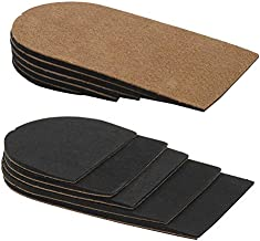 Adjustable(3-15mm) Leg Length Discrepancy Heel Lifts Inserts Insoles - Pack of 2(5 Layer Brown)