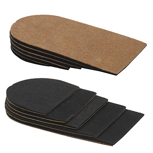 Adjustable(3-15mm) Leg Length Discrepancy Heel Lifts Inserts Insoles (5 Layer Brown)